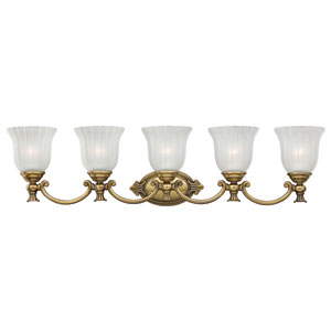 Francoise Burnished Brass Five-Light Bath Sconce