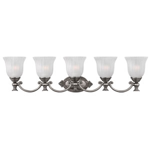 Francoise Nickel Five-Light Bath Fixture