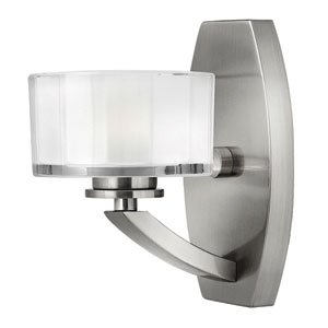 Meridian Brushed Nickel One-Light LED Bath Sconce