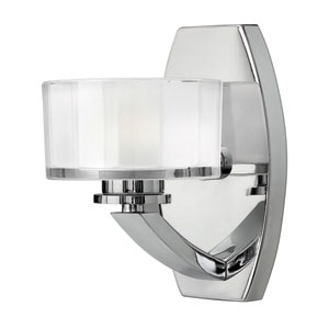Meridian Chrome One-Light Bath Fixture