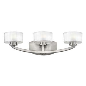 Meridian Brushed Nickel Three-Light LED Bath Sconce