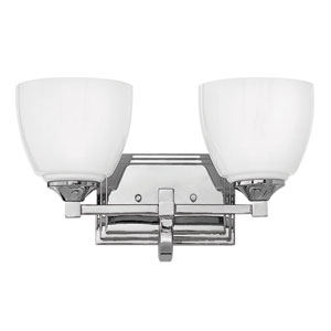 Faye Chrome Two-Light Bath Sconce