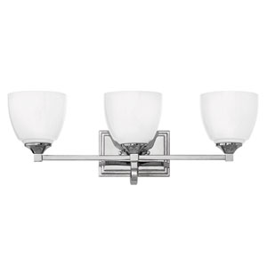 Faye Chrome Three-Light Bath Vanity