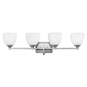 Faye Chrome Four-Light Bath Vanity