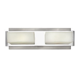 Domino Brushed Nickel Two-Light Bath Vanity