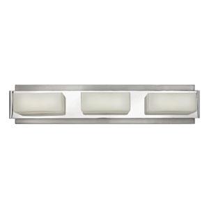 Domino Brushed Nickel Three-Light Bath Vanity