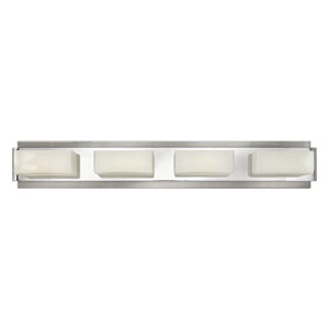 Domino Brushed Nickel Four-Light Bath Vanity
