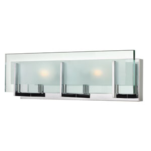 Latitude Chrome Two Light Bath Fixture