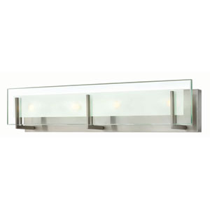Latitude Brushed Nickel 26-Inch Four Light LED Bath Fixture