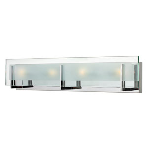 Latitude Chrome Four Light Bath Fixture