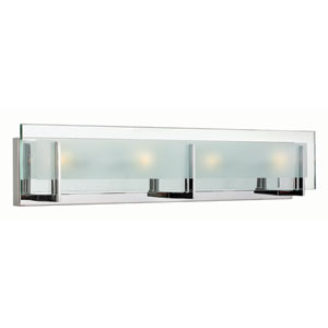 Latitude Chrome Four 26-Inch Light LED Bath Fixture
