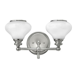 Ainsley Polished Nickel Two-Light Bath Sconce