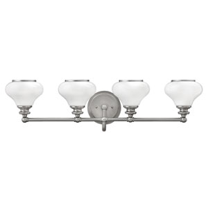 Ainsley Brushed Nickel Four-Light Bath Sconce