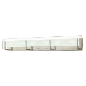 Latitude Brushed Nickel Six Light Bath Fixture