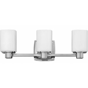 Tessa Chrome Three-Light 7.5-Inch Bath Light