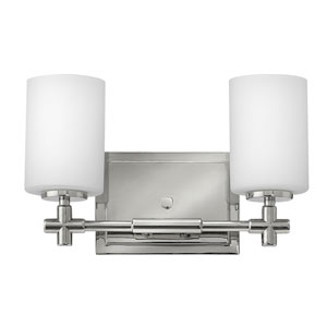 Laurel Polished Nickel Two-Light Bath Sconce