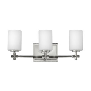 Laurel Polished Nickel Three-Light Bath Sconce