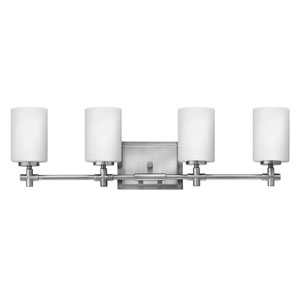 Laurel Brushed Nickel Four-Light Bath Sconce