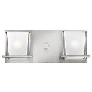 Lola Brushed Nickel Two-Light Bath Light