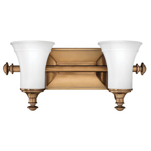 Alice Brushed Bronze Two-Light Bath Light