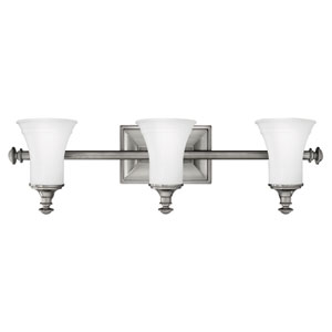 Alice Antique Nickel Three-Light Bath Light