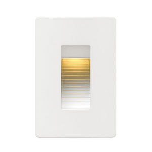 Luna Satin White Line Voltage 3-Inch LED Landscape Deck Light