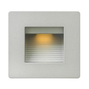 Luna Titanium Line Voltage Square LED Landscape Deck Light