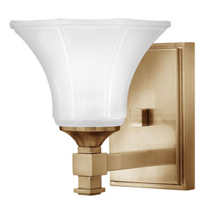 Abbie Brushed Caramel One-Light Bath Light