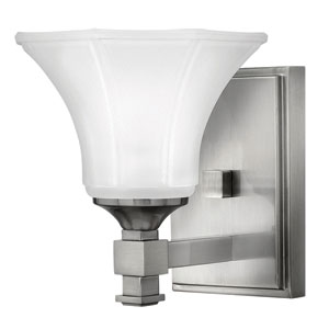 Abbie Brushed Nickel One-Light Bath Light