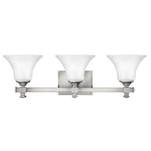 Abbie Brushed Nickel Three-Light Bath Light
