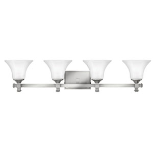 Abbie Brushed Nickel Four-Light Bath Light