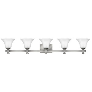 Abbie Brushed Nickel Five-Light Bath Light