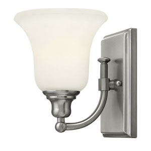 Colette Brushed Nickel One-Light Bath Fixture