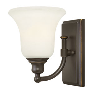Colette Oil Rubbed Bronze One-Light Bath Fixture