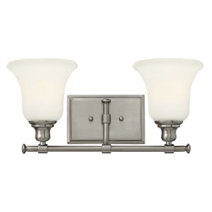 Colette Brushed Nickel Two Light Bath Fixture