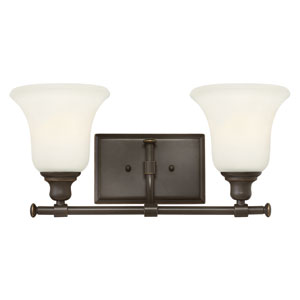 Colette Oil Rubbed Bronze Two Light Bath Fixture