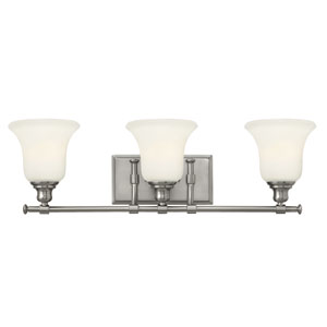 Colette Brushed Nickel Three Light Bath Fixture