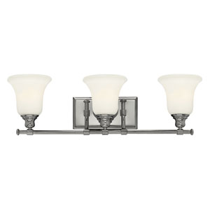 Colette Chrome Three Light Bath Fixture