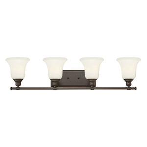 Colette Oil Rubbed Bronze Four Light Bath Fixture