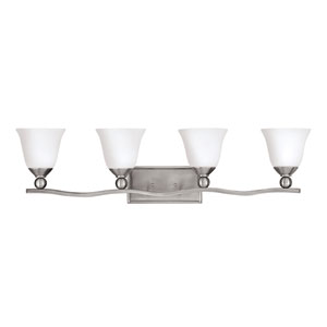 Bolla Brushed Nickel Four-Light Bath Fixture