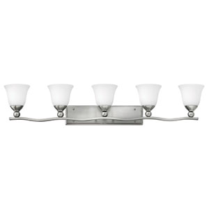 Bolla Brushed Nickel Five-Light Bath Light
