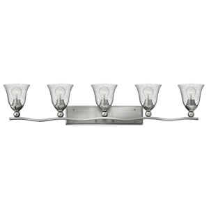 Bolla Brushed Nickel Five-Light Vanity