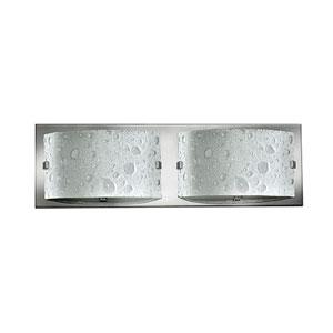 Daphne Brushed Nickel Two-Light 5-Inch Bath Light
