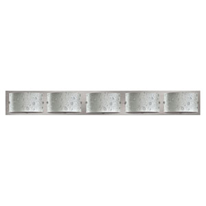 Daphne Brushed Nickel Five-Light 5-Inch Bath Light