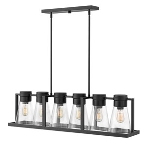 Refinery Black Linear Pendant