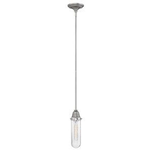 Academy English Nickel 6-Inch One-Light Mini Pendant