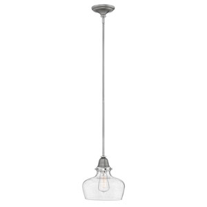Academy English Nickel 10-Inch One-Light Mini Pendant