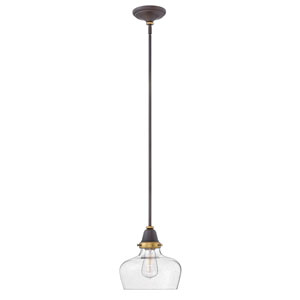 Academy Oil Rubbed Bronze 10-Inch One-Light Mini Pendant