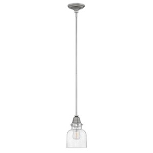 Academy English Nickel 7-Inch One-Light Mini Pendant