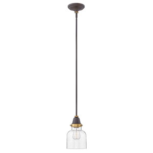 Academy Oil Rubbed Bronze 7-Inch One-Light Mini Pendant